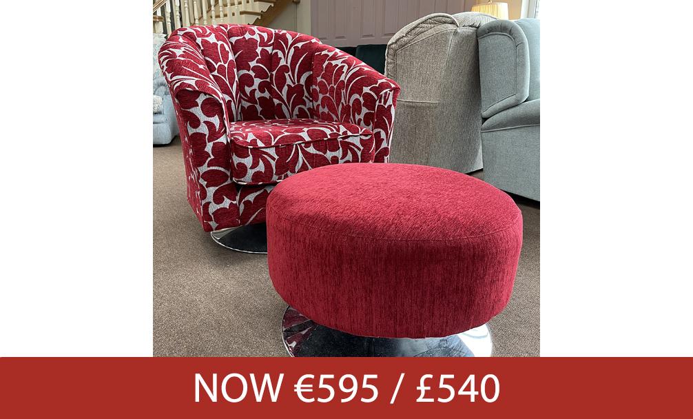 ↑ Tub Swivel Chair & Swivel Footstool ↑